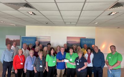 South west of England support group makes donation to specialist cancer charity